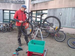Préparation des vélos