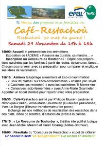 flyer Cafe.Restachou programme