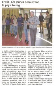 kendalc'h danse salle polyvalente Article Télégramme 10 mars 2014